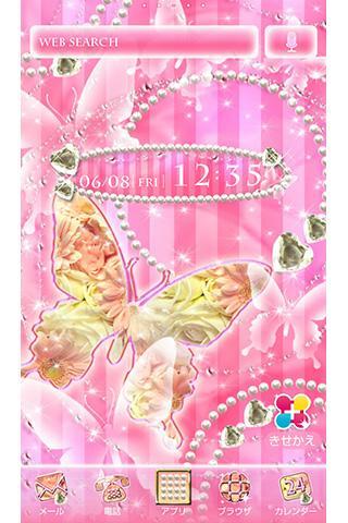 u8776u306eu59ebu7cfbu58c1u7d19u3000Pearl Pink Butterfly 1.1 Windows u7528 1