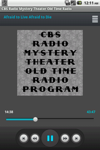 CBS Radio Mystery Theater OTR