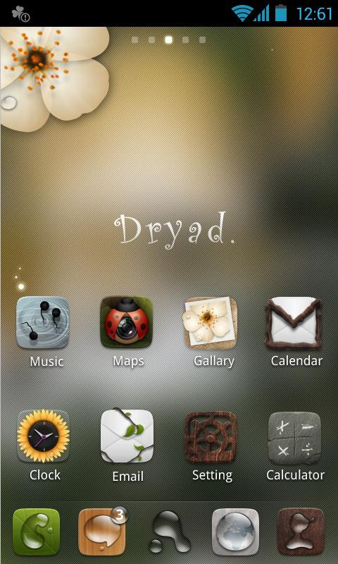 Dryad GO Launcher EX Theme - screenshot