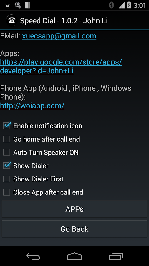 Speed Dial for Android Wear- screenshot