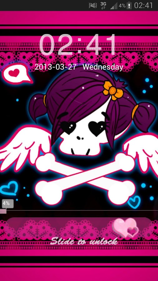 GO Locker Theme Pink Emo- screenshot