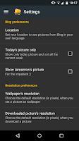 Screenshot of Daily Wallpaper with Bing