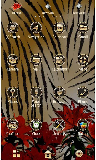 Golden Theme-Tiger, Lilies- 1.0 Windows u7528 2