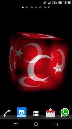3D Turkey Cube Flag LWP