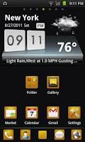 Screenshot of GO Launcher EX Theme BlackGold