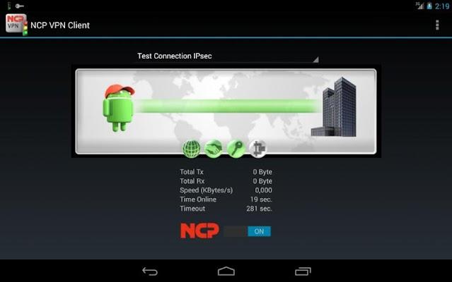 NCP VPN Client - screenshot