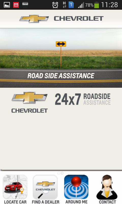Chevrolet Road Assist- screenshot