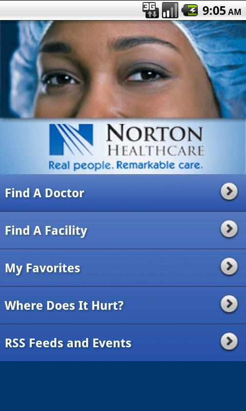 Norton Healthcare - screenshot