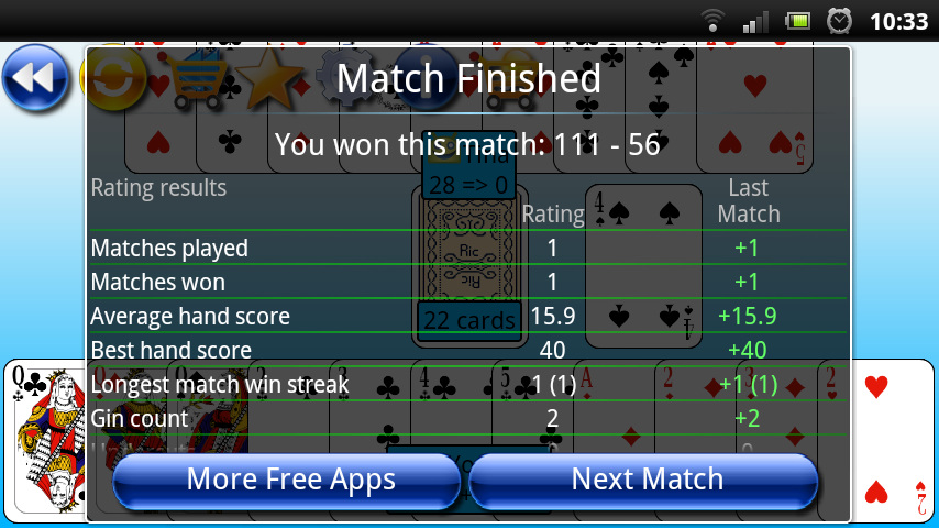 G4A: Gin Rummy - screenshot