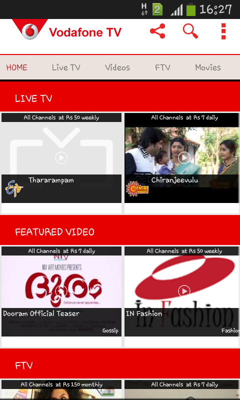 Vodafone Mobile TV Live TV   Android Apps on Google Play