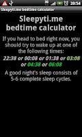Screenshot of Sleepytime