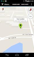 Screenshot of Where Did I Park?