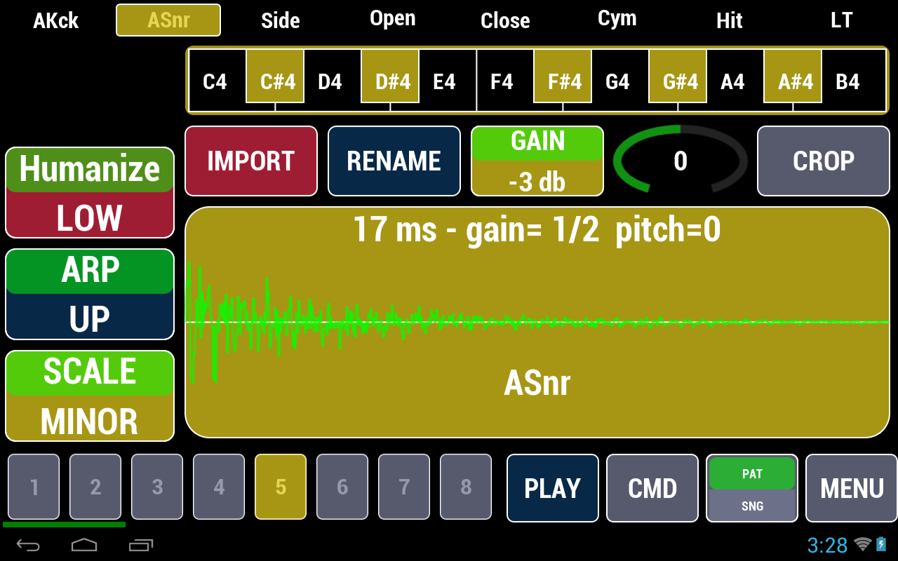 Cadeli Drum Machine- screenshot