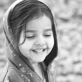 by Ronak Patel - Black & White Portraits & People ( child, b&w, black and white, woman, portrait )