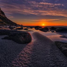 Midnight Sun by John Aavitsland - Landscapes Sunsets & Sunrises
