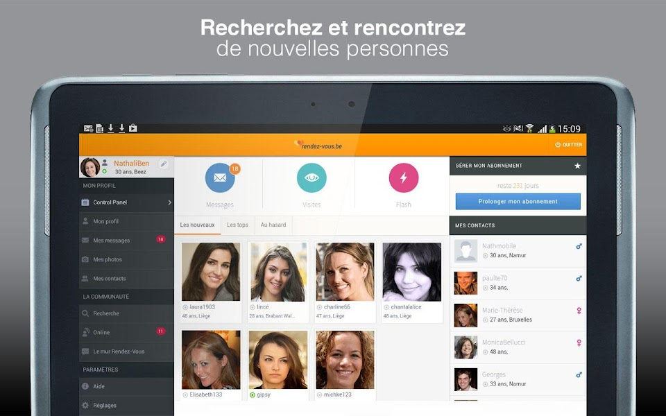 Appli chat rencontre android