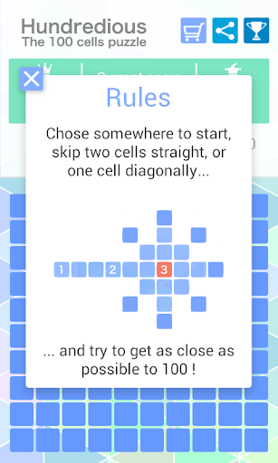 Hundredious 100 Cells Puzzle
