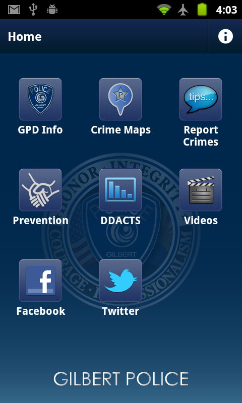 Gilbert Police - screenshot