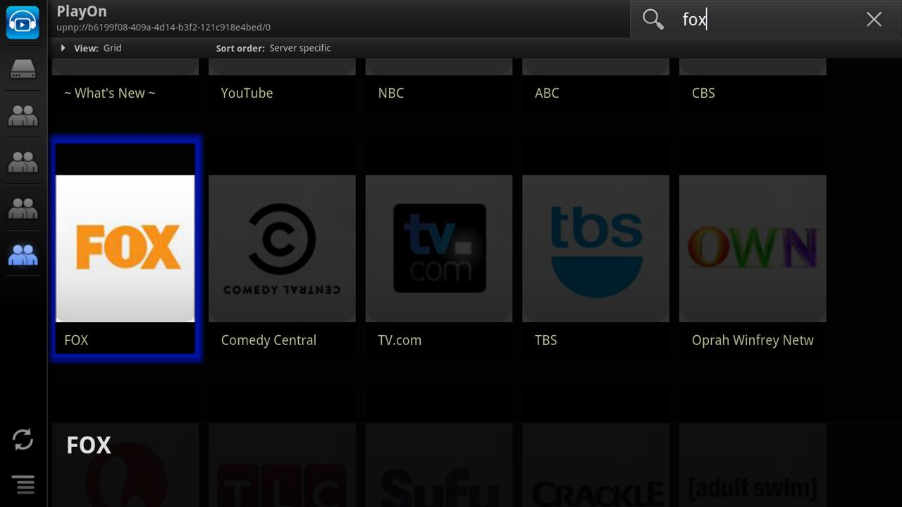 ViMu Player for Google TV - screenshot