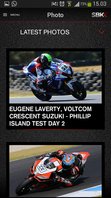 SBK Live Experience 2014 - screenshot