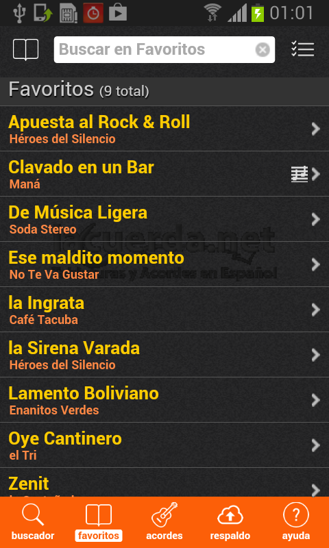 Latin Chords (LaCuerda PRO)- screenshot