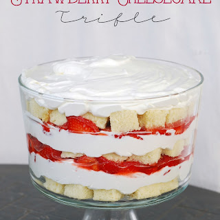 Strawberry  Trifle with Cheesecake Filling
