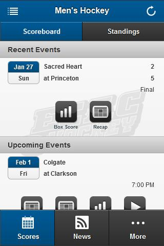 ECAC Hockey Front Row- screenshot
