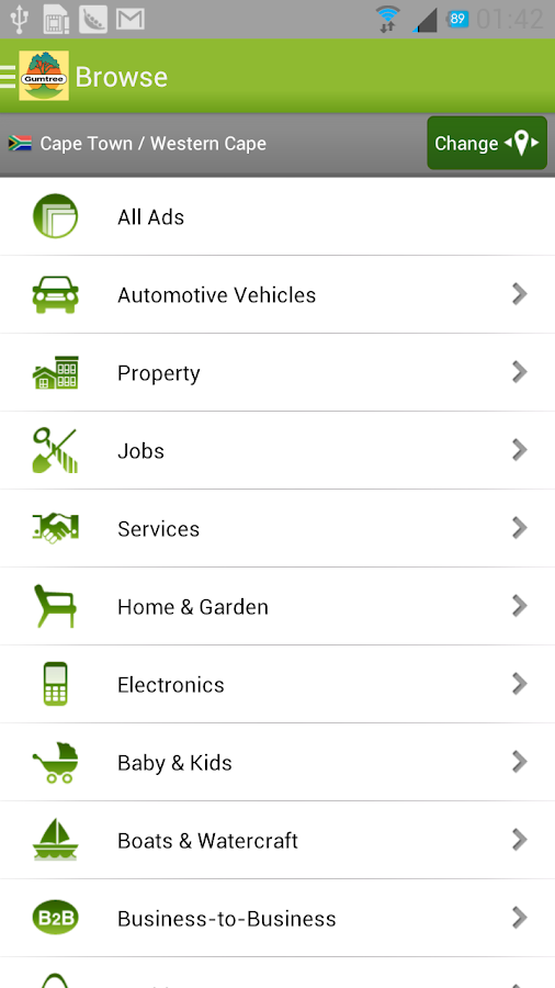 Gumtree South Africa - screenshot