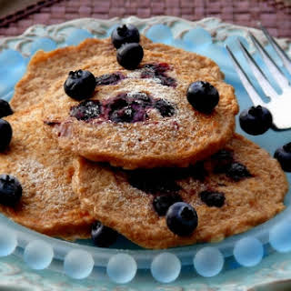 Oatmeal-Blueberry Pancakes.