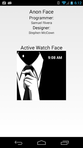Anonymous Watch Face for Wear