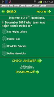 Schedule Boston Celtics fans - screenshot thumbnail