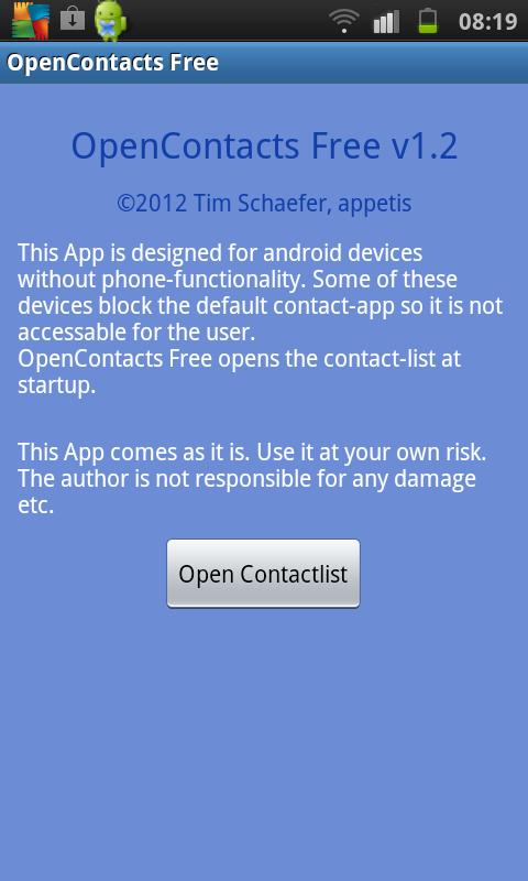 Open Contacts Free - screenshot