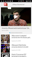 Screenshot of MassLive.com: UMass Hoops