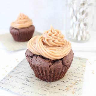 Gluten Free Peanut Butter Chocolate Cupcakes.