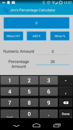 Jim's Percentage Calculator