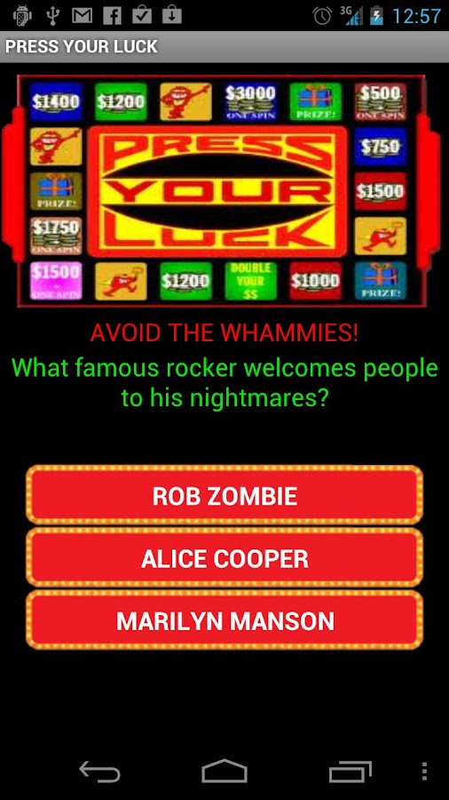 PRESS YOUR LUCK - screenshot