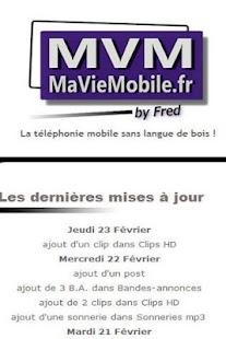 MaVieMobile.fr - screenshot thumbnail