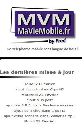 MaVieMobile.fr - screenshot