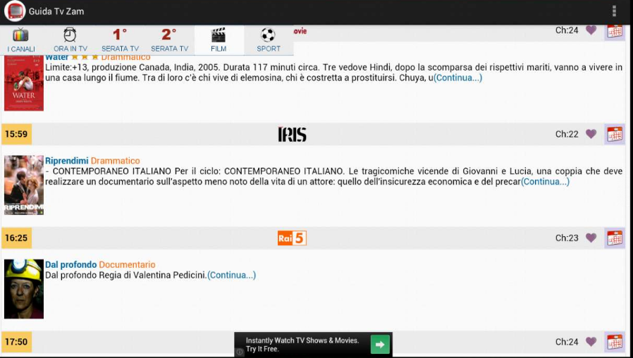 Programmi Tv Guida Tv Zam - screenshot