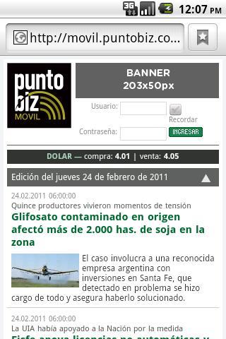 PuntoBiz- screenshot