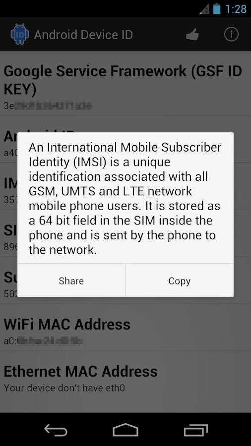 Android Device ID - screenshot