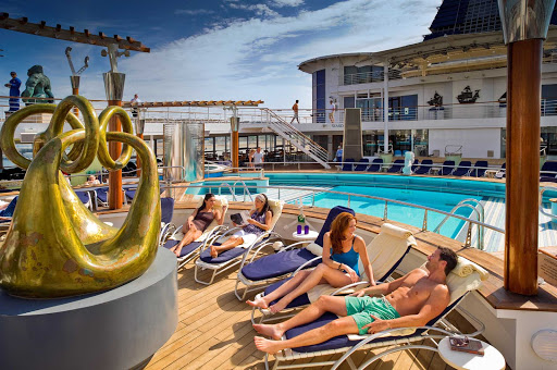 Celebrity_Constellation_Pool_Experience - Socialize or just sun-bathe on the pool deck of Celebrity Constellation.