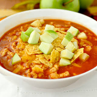 Chipotle Turkey Chili with Apples.