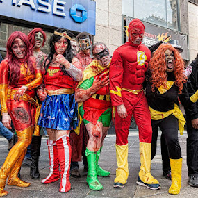 Zombie Justice League by James McGinley - People Street & Candids