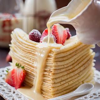 Choux Pastry Buttermilk Crepes (Заварные Блинчики) Recipe