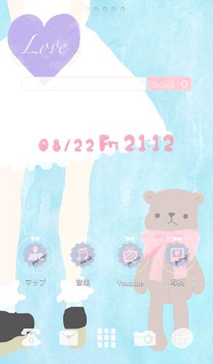 可愛換裝桌布★Girl and Teddy