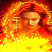 The Queen of Fire Flames LWP