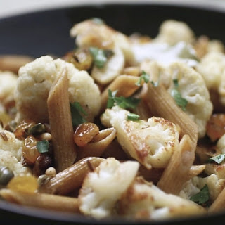 Sicilian-style Cauliflower with Wholemeal Pasta.