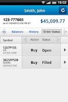 Screenshot of WealthCentral Mobile