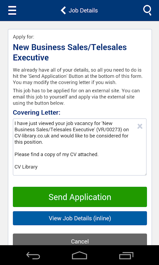 CV-Library Job Search - screenshot